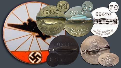 Enamel Badge for the flugmeldedienst
