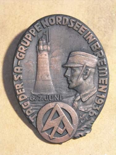 SA badge 1936 fake????