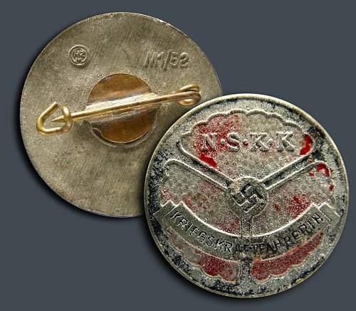 NSKK Kriegskraftfahrerin Badge.......repro?