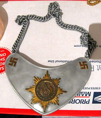 what is this political gorget, SA perhaps?