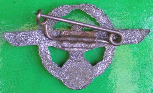 Wehrmacht civilian employee pin - is this a typical variant?