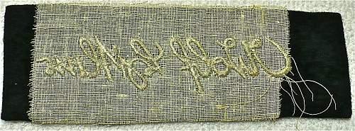 Embroidered Signature on Navy-Blue Felt