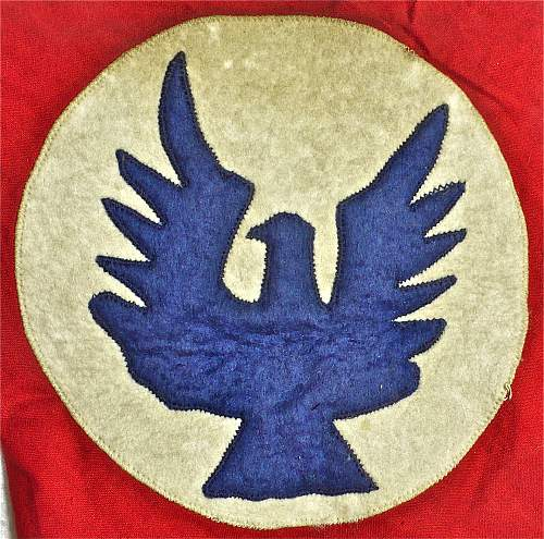 Red Bandana (Kerchief, Headcover) with Blue Eagle on White Circle; '36' in White