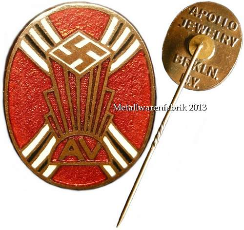 Found a rare German American Bund (AV) pin.