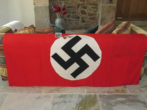 German banner from the Town Hall in St.Helier, Jersey.