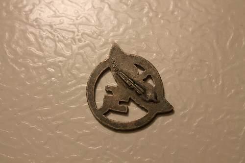 NSFK Sponsoring Membership Badge, 1883?