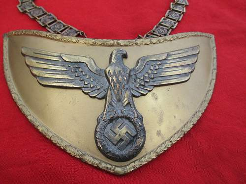 Political Flag Bearer Gorget for Opinions