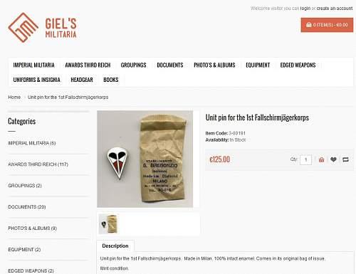 Kesselring & his Fallschirm-Korps cap badge