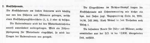 Click image for larger version.  Name:5-Verordnungsblatt d. Koprsführung NSKK from April 1, 1939.jpg Views:26 Size:150.6 KB ID:612498