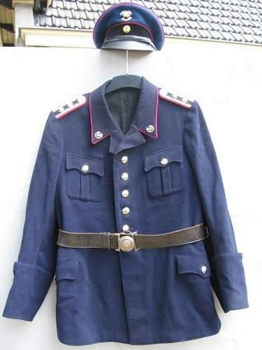 Feuerhwehr jacket and cap