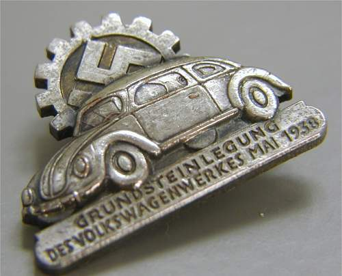 VW Bettle pin badge-Fallersleben