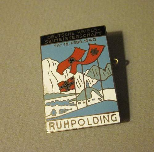 Skiing Competition pin