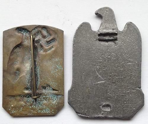 Gautag and NSDAP Badge