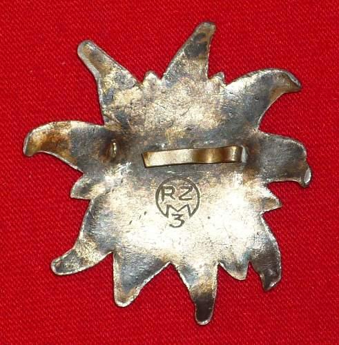 Unidentified  swastika cap insignia, please help , is it rare? fake??