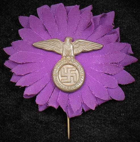 1927 Reichsparteitage Teilnehmer-abzeichen