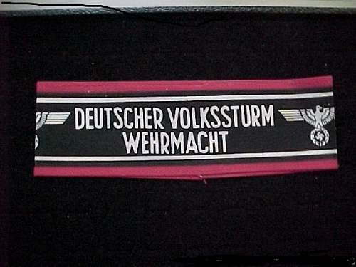 VOLKSSTURM ARMBAND for a 2nd Opinion