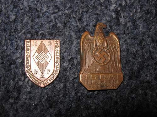 HJ tinnie and Reichsparteitag 1933