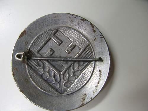 Reichsarbeitsdienst weibliche Jugend broach