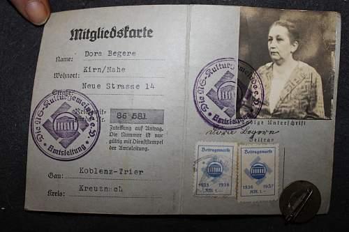 reichskulturkammer id and badge?