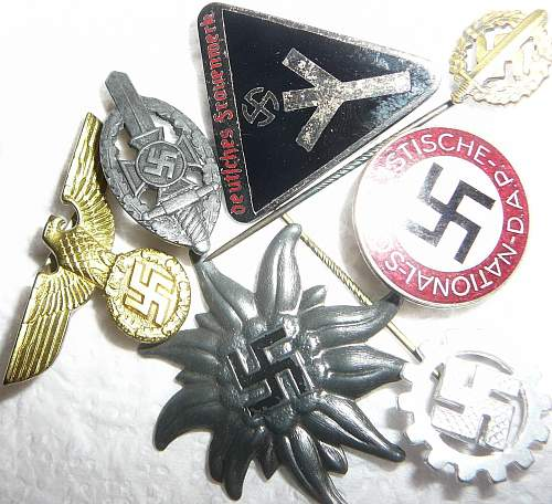 Grouping of badges and insignia