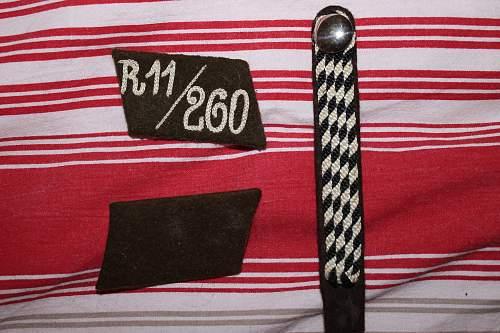 SA collar tabs R11/260 and shoulder board