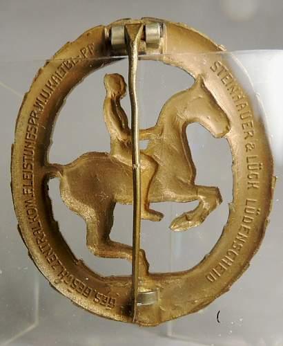 German Riders Award Badge with M