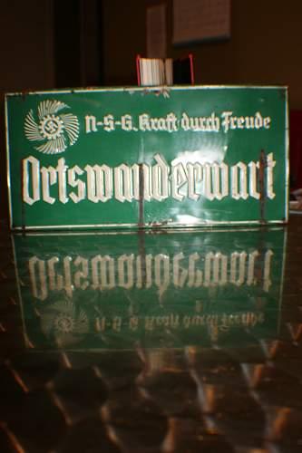 Kraft Durch Freude pressed tin sign