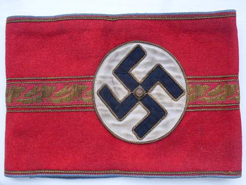 Ortsgruppenleiter Orts level political armband