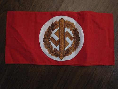 New pickp-ups! SA Armband, HJ Pin, NSDAP Button Badge