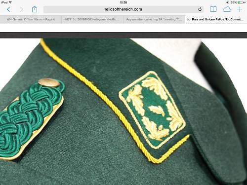 Forestry Generals Shoulder boards.