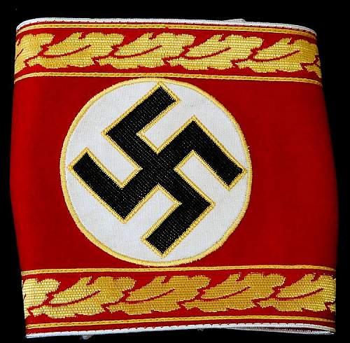 NSDAP Supreme Department Leader armband