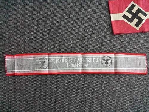Volkssturm armband. Real or fake? :)