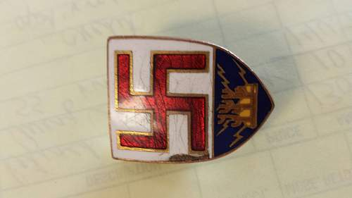 Swastika Shield Pin. What is it?