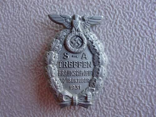 S.A. Treffen Braunschweig 17/18 Oktober 1931