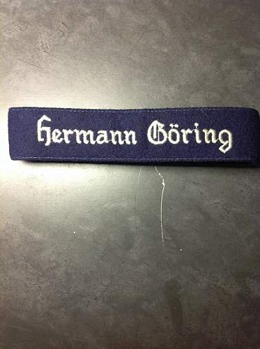 Need Help Identify This  HERMANN GORING Cuff Title