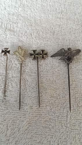 A few more stick pins