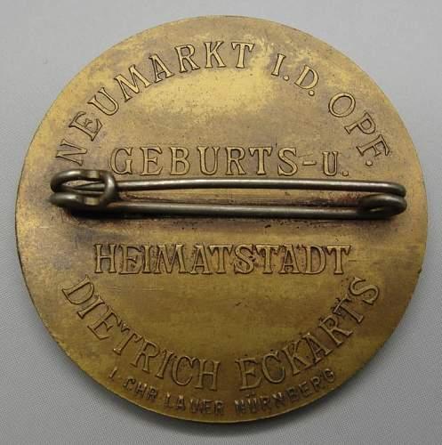 Dietrich Eckart Badge
