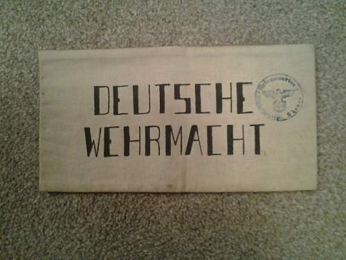 wehrmacht armband opinions?.???