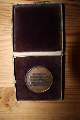 cased west wall medal