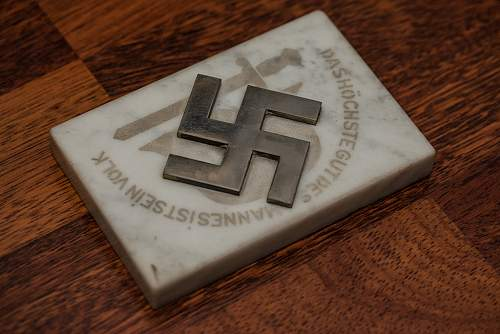 Nazi Party Plaque - Identification Help