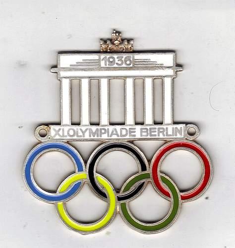1936 Olympic badge