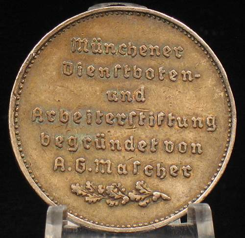 City of Munich cased faithful service medal