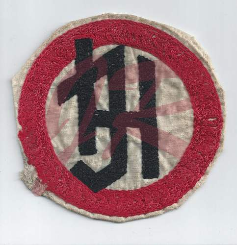 Click image for larger version.  Name:Hitler Jugend early sport insignia front  (618x640).jpg Views:63 Size:122.1 KB ID:811291