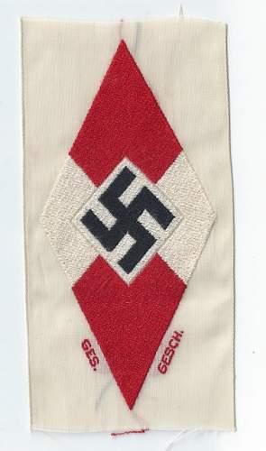 Click image for larger version.  Name:Hitler Jugend sport diamond front  (377x640).jpg Views:70 Size:71.3 KB ID:811296