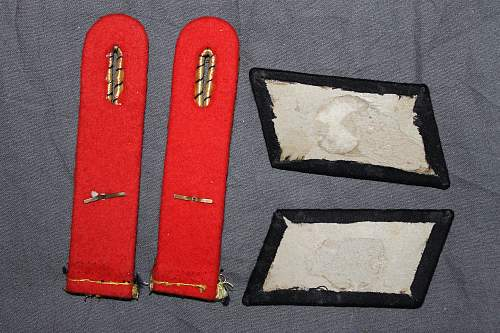 Reichsbahn collar tabs and shoulder boards