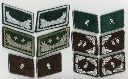 Click image for larger version.  Name:German Customs & Forestry collar patches group resize.jpg Views:336 Size:103.2 KB ID:83953