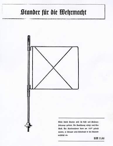 German Staff Car Pennant mast?????