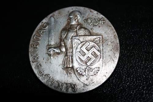 Reichsparteitag 1934 Day Badge