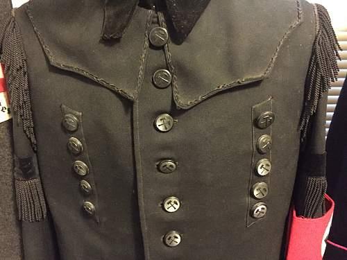 1939 named Bergbau tunic and visor