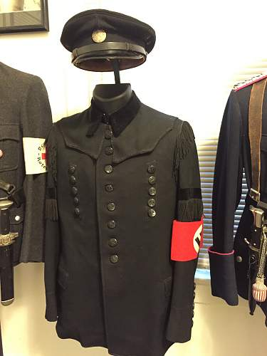 1939 named German Miners ceremonial jacket and visor